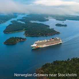 Norwegian Getaway near Stockholm