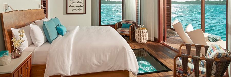 Overwater Bungalow Bedroom