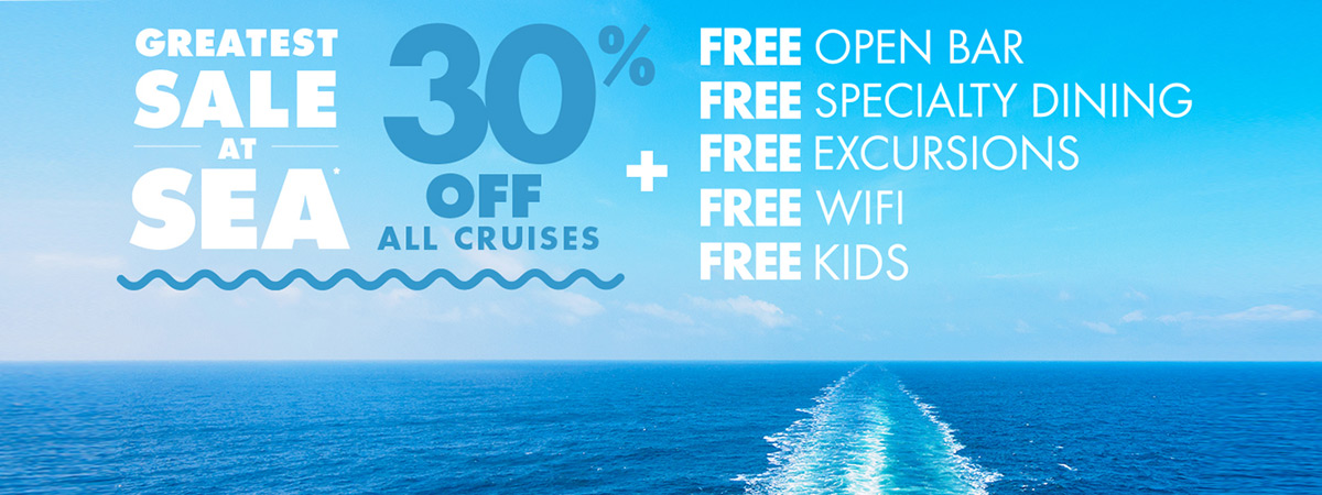30% Off + Pick Up to 5 Fantastic Free Offers + Onboard Credit