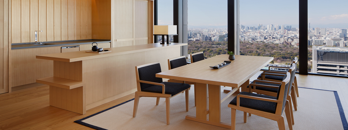 Enjoy an additoinal 100 USD credit when you stay 3 nights or more at Aman Tokyo!