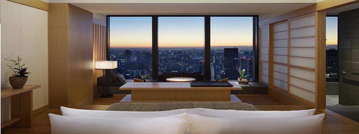 Room upgrade and $100 Food & Beverage credit at Aman Tokyo